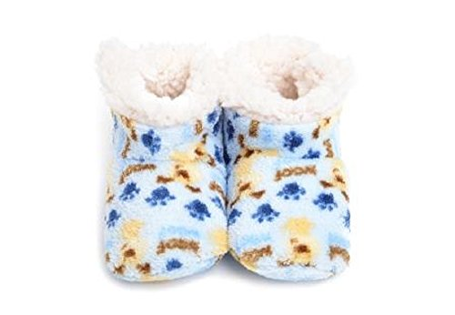 Boys Puppy Bootie (Skidders The Original Plush Bootie (6-12 month, Puppy Love))