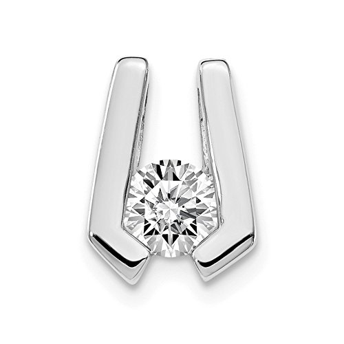Jewelry Pendants & Charms Slides 14k White Gold AA Diamond slide ()