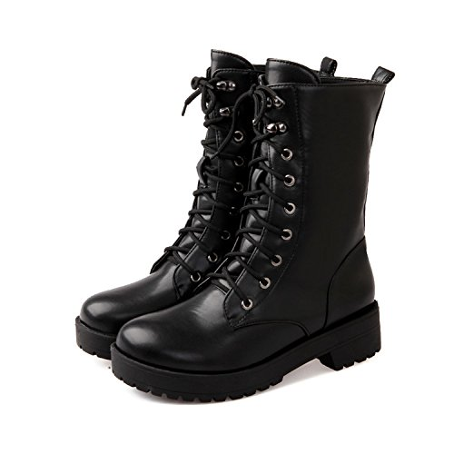 Gros Beau KHSKX Korean black Porter British Noires Series Cosplay Martin Des Rétro Lacets Chaussures Bottes Code CC0x5Fr