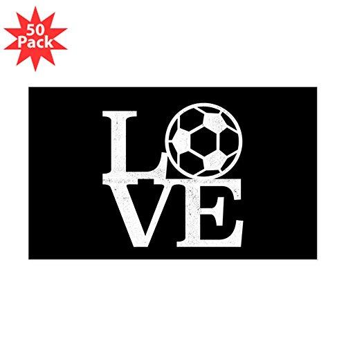 CafePress - Love Soccer - Sticker (Rectangle 50 pk) by CafePress