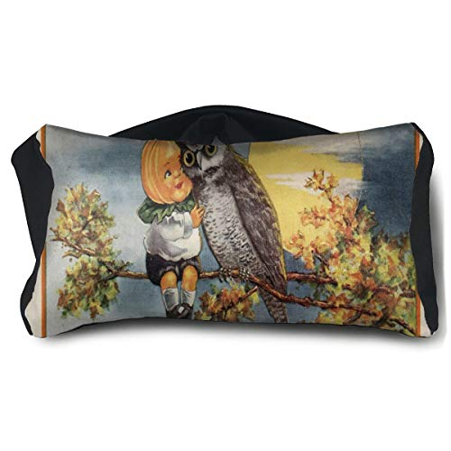 Eye Pillow Vintage Halloween Image Personalized Eye Bag Patch Unisex Portable Blindfold Train Sleep Protection