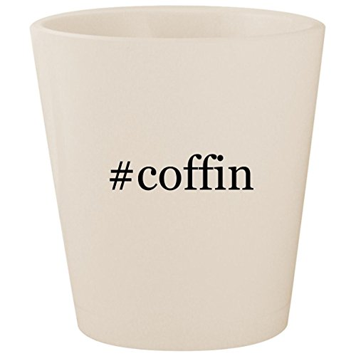 #coffin - White Hashtag Ceramic 1.5oz Shot Glass