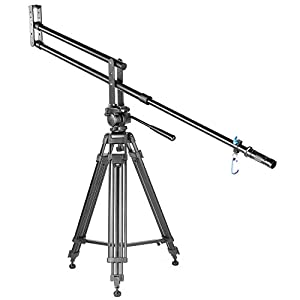 "Neewer 203cm/80"" Aluminum Alloy Portable Mini Jib Arm Crane for Nikon Canon Sony Fujifilm Digital DSLR Camera Camcorder Video Movie Film Making,Hold up to 8kg/17.6lbs,with Carrying Bag Sand Bag"