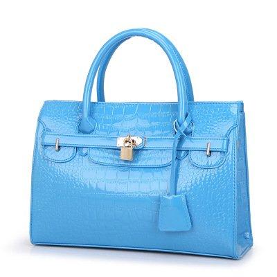 Meoaeo El Nuevo Big Bag Bolso De Moda Europea Cruz Rosa Roja Sky blue