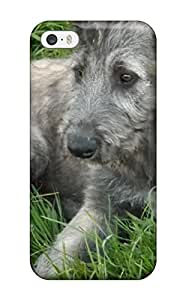 Flexible Tpu Back Case Cover For Iphone 5/5s - Irish Wolfhound Puppies
