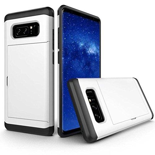 Bescita Ultra Slim Armor Soft Rugged Case Cover Schutz Tasche Kratzfeste Handyhülle Für Samsung Galaxy Note 8 Weiß