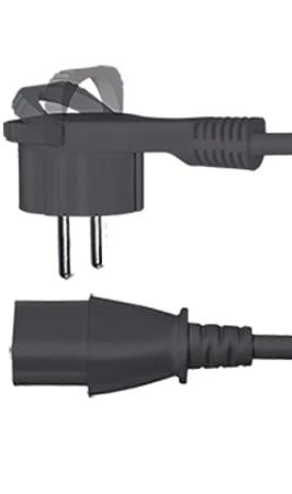 SAT-FOX - Cable de alimentación para Ordenador, Monitor, Monitor ...