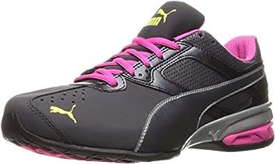 PUMA Women's Tazon 6 WN's Fm Cross-Trainer Shoe, Periscope/Puma Silver/Pink Glow, 5.5 M US