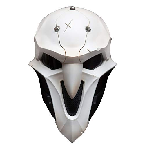Overwatch John Morrison Cosplay Light-up Mask 1:1 Props Helmet Halloween Party Soldier 76 Weapon Competitive Game Mask