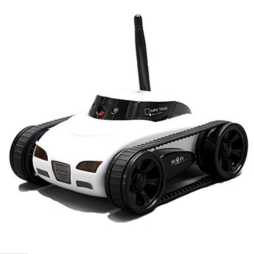A Parts Mini Rc I Spy Remote Control Tank Car With 0 3 Mp Video Camera And 777 270 Wi Fi  White