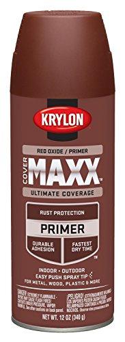 Krylon K09186000 COVERMAXX Primer, Red Oxide, 12 Ounce
