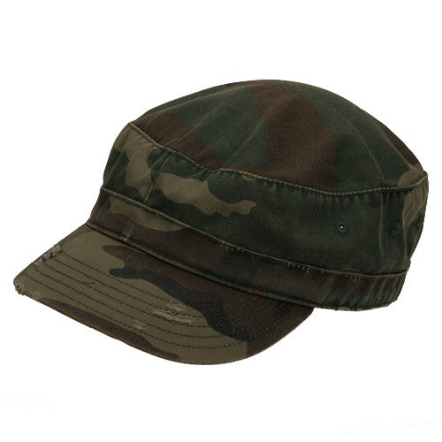 Enzyme Frayed Army Caps - Enzyme Frayed Army Caps-Camo