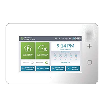 Image of Home Security Systems 2GIG GC3e Premium Security and Control Panel, Enhanced Security, 7' Touch Screen (2GIG-GC3E-345)