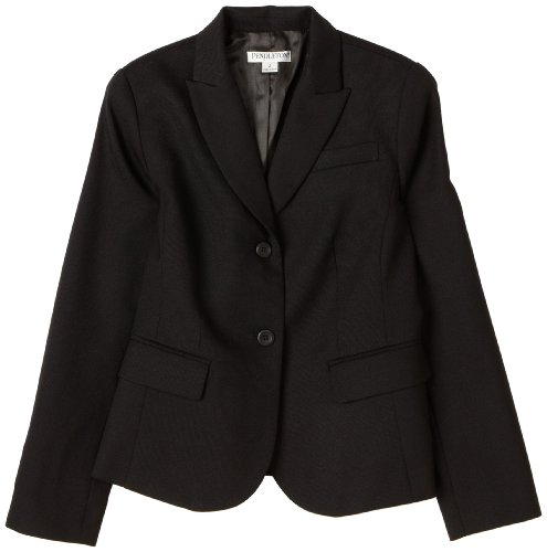 Pendleton Women's Petite Suit Jacket, Black Worsted, 4 (Separates Suit Petite)