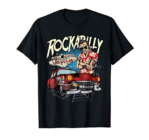 50s Vintage Rockabilly Greaser Style Clothing Hotrod Tshirt