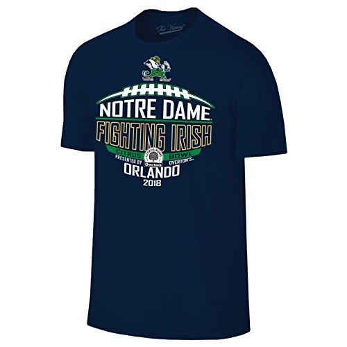 Fighting Irish Clothes (Notre Dame Fighting Irish 2018 Citrus Bowl Orlando Football T-Shirt - 2X-Large - Navy)