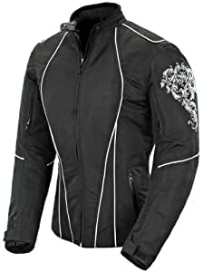 Joe Rocket Alter Ego 3.0 Women's Textile Riding Jacket (Black/White, Medium)