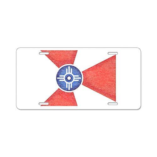 Langquba Vintage Wichita Kansas Flag - Aluminum License Plate, Front License Plate, Personality Vanity Tag 6