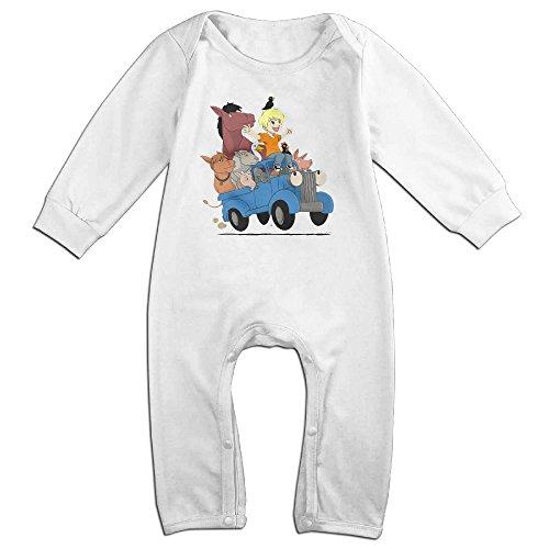 MoMo Little Blue Truck's Halloween Toddler/Infant Romper Jumpsuit 12 Months White (Luke Kirby Halloween)