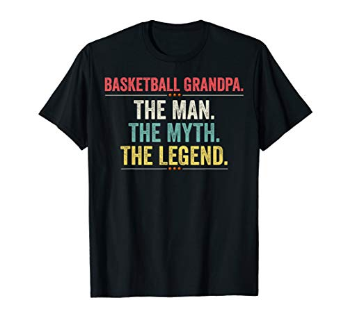 Basketball Grandpa The Man The Myth The Legend Funny T-shirt
