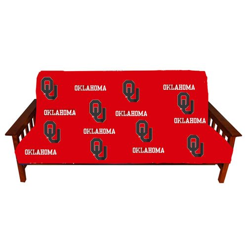 College Covers Oklahoma Sooners Futon Cover - Full Size fits 6 and 8 inch mats (Bright Futon Cover)