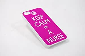 Iphone 4 Case, Thin Flexible Plastic Case Iphone 4 Case, Keep Calm Im A Nurse by mcsharks