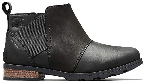 SOREL - Women's Emelie Chelsea Waterproof Ankle Boots, Black, 12 M US -