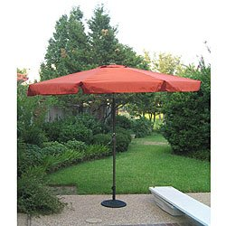 Aluminum 10 Foot Patio Umbrella In Navy Blue