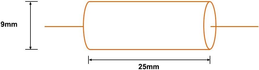 Sourcing Condensador de pel/ícula de poli/éster para Divisor de Audio axial Color Amarillo 250 V//100 V Redondo