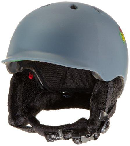 PROTEC Original Pro-tec Riot Snow Helmet, Matte Grey Rasta, Small