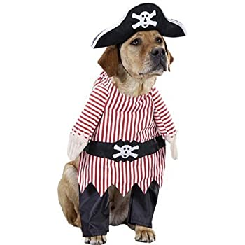 Amazon.com : Pet Pirate Dog Halloween Costume (Size: Small) : Pet ...