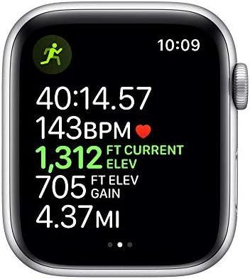 Apple Watch Series 5 (GPS, 44mm) – Silver Aluminum Case with White Sport Band 41rW DPVhHL