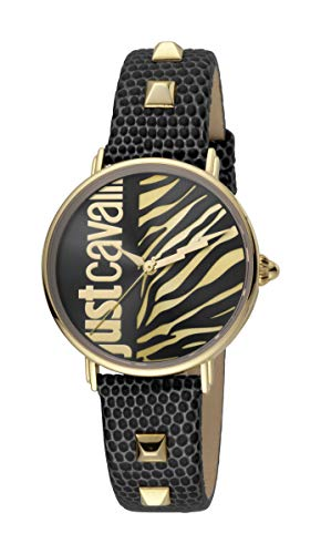 Just Cavalli JC1L077L0025 316L Stainless Steel Mineral Crystal Tang Buckle Watch