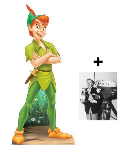 FAN PACK - Peter Pan (Disney) LIFESIZE CARDBOARD CUTOUT (STANDEE / STANDUP) - INCLUDES 8X10 (25X20CM) STAR PHOTO - FAN PACK #293 ()
