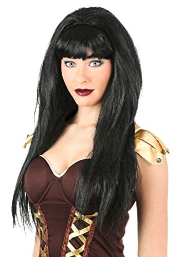 Fun Costumes Womens Xena Black Synthetic Adult Wig Standard -