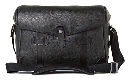 Barber Shop Pageboy Messenger Camera Bag, Small, Grained Black Leather ()