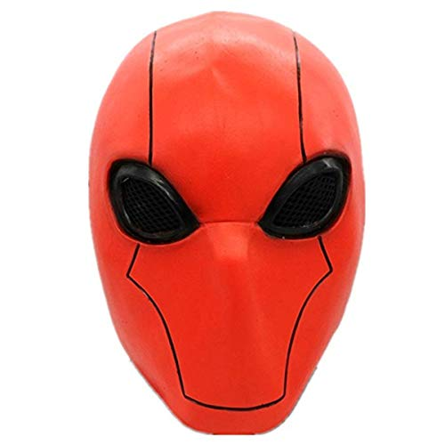 Deluxe Red Hood Mask Injustice League 2 Adult Full Head Helmet Cosplay Costume Halloween Accessory]()