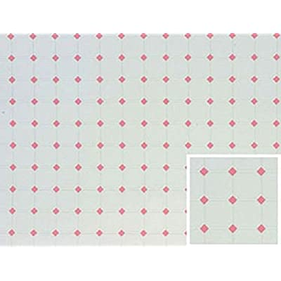 Miniature Pink Diamond White Tile Flooring for The Dollhouse: Toys & Games
