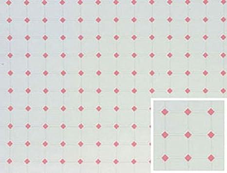 Miniature Pink Diamond White Tile Flooring for the Dollhouse