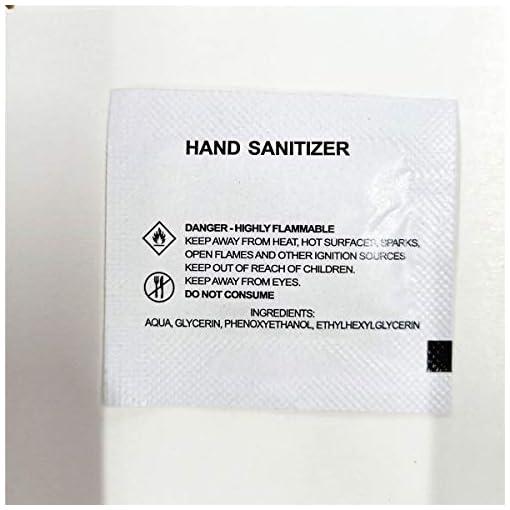 llwei258 50pcs 1.5 ml Alco-HOL Based Hand Sani-tizer Gel Kill 99.9% of Germs Pump No Rinse Foam Mini Travel Pocket Size for School Office