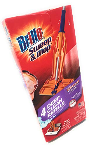 Armaly Brands Brillo Sweep & Mop Estracell Deep Clean Refill, 4-Count