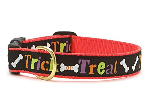 Up Country Trick or Treat Dog Collar Medium