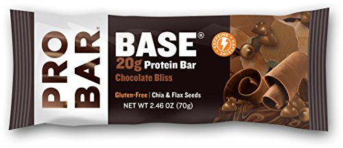 PROBAR - BASE 2.46 Ounce Protein Bar - Peanut Butter Chocolate - Organic, Gluten-Free, Non-GMO, Plant-Based Whole Food Ingredients, Omega-3s from Chia and Flax - Pack of 12 Bars