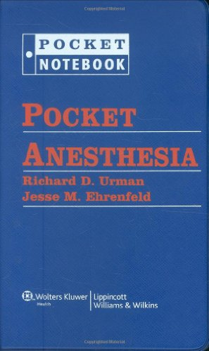 Pocket Anesthesia (Pocket Notebook Series) by Brand: Lippincott Williams Wilkins