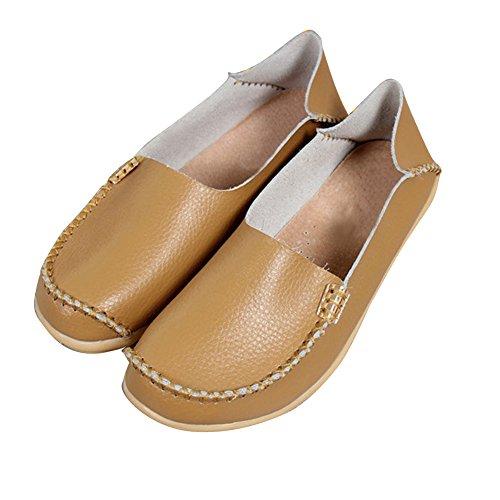 Blivener Kvinners Uformelle Loafers Gang Flate Sko Comfort Sommer Tøfler Mandarin