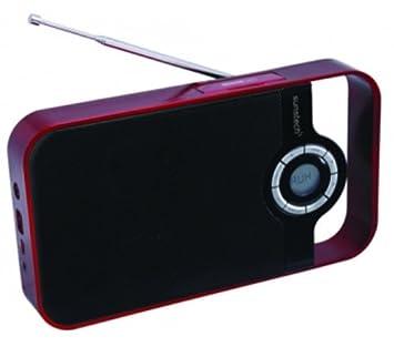 Sunstech RPDS250RD - Radio portátil digital, USB, lector tarjetas ...