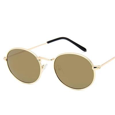 ZHOUYF Gafas de Sol Nuevo Diseñador De Marca Vintage Oval Sunglasses Women/Men Retro Lens Clear Eyewear Gafas De Sol para Mujer Uv400, I: Deportes y aire libre