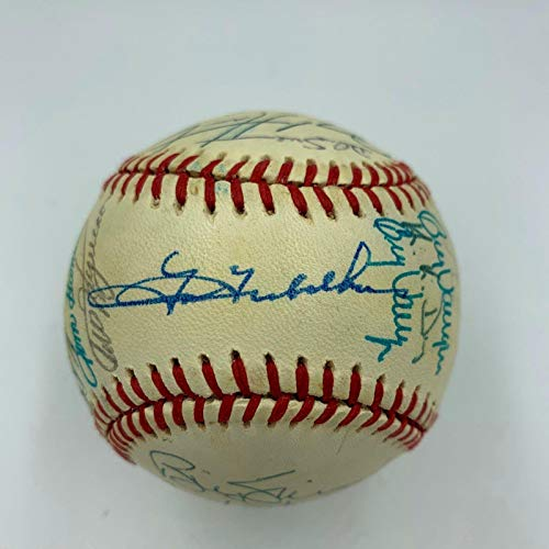 1990 Milwaukee Brewers Team Signed Baseball Robin Yount COA - PSA/DNA Certified - Autographed ()