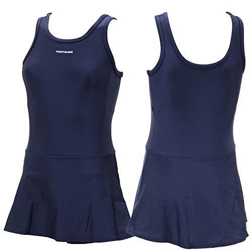 16e05ce5fdf2d4 Amazon.co.jp: フットマーク FOOTMARK ガールズ スクール水着 スカートワンピース UPF50+ 1210134:  服&ファッション小物