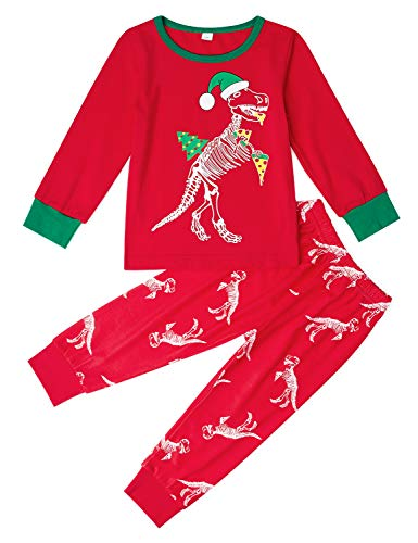 35b4eca889 Uideazone Kids Pajamas Boys Girls 2 Piece Pjs Set Cotton Sleepwear (2-11  Years